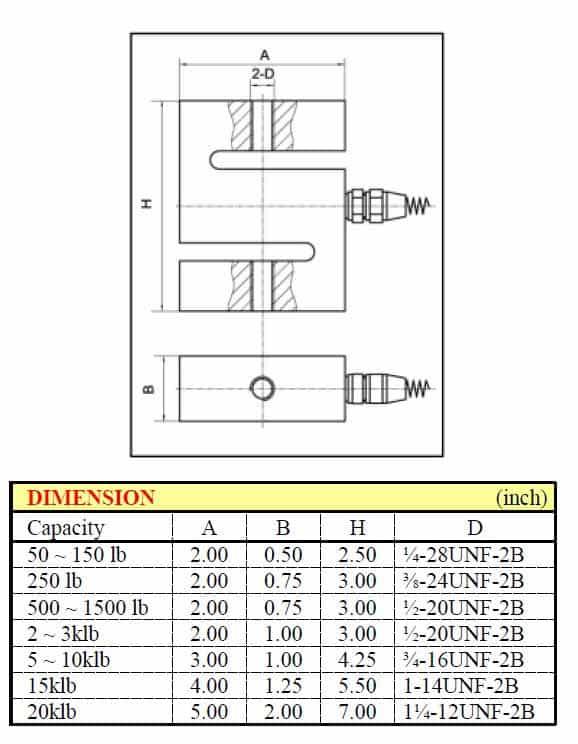 """Kích thước lắp đặt Loadell chữ """"Z"""" VLC-110/VLC-110S"""