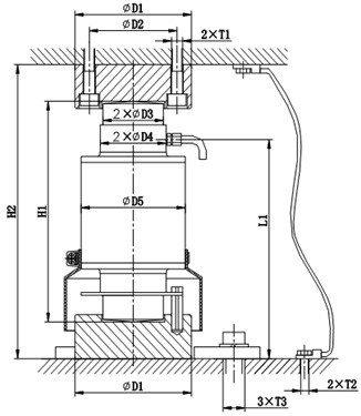 Chiều cao lắp đặt Loadcell số ZSFB-D