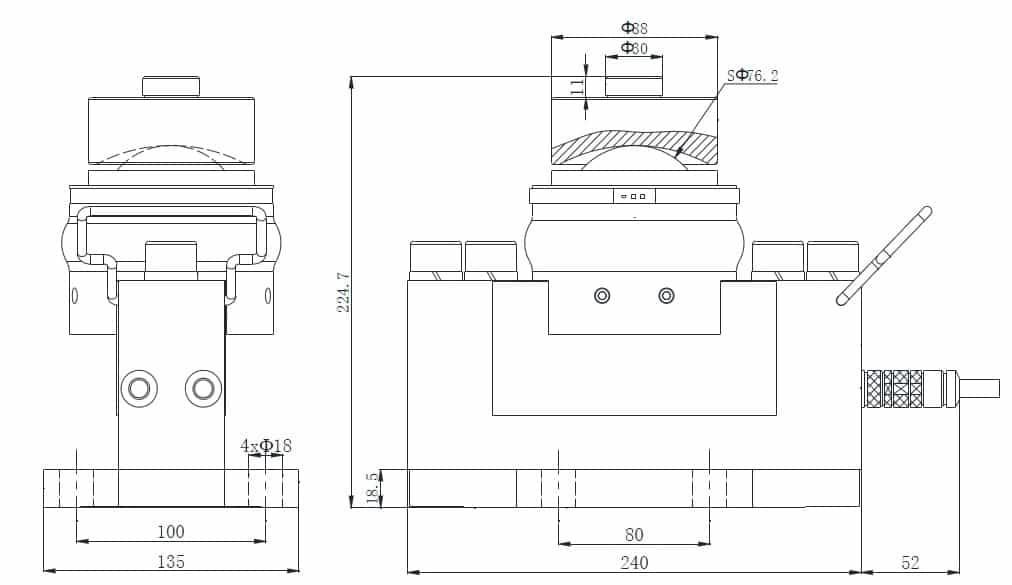 Thông số kích thước lắp đặt Loadcell Kỹ thuật số MK-EDS