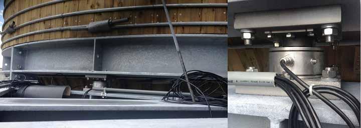 Mô hình lắp đặt cân bồn sử dụng loadcell dạng trụ nén