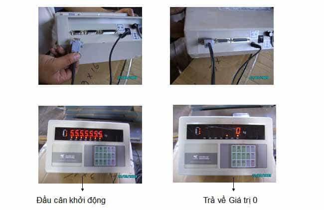 Kết nối dây tín hiệu về đầu cân.