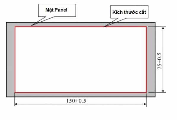 Kích thước lắp đặt Đầu cân đóng bao XK3102-B1